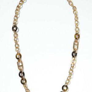 Banana Republic Love Link Horsebit Necklace NWT 59